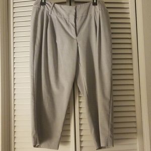Grey Capri Work Pants